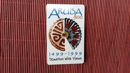Phonecard Aruba Used Only 80.000 Made Rare ! - Aruba