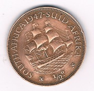 1/2 PENNY 1947 (mintage 258000 Ex.) ZUID AFRIKA /1286C/ - Sud Africa