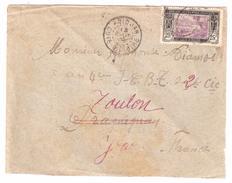 Lettre D'Abidjan, Cote D'Ivoire,Yvert N° 65 , 25 C Noir / Violet , 13 Aout 1923 > Soldat T C B T, Draguignan,puis Toulon - Brieven En Documenten