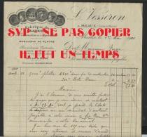 77 MEAUX - L. VESSERON - Fabrique De Platres De Construction D'Agriculture - Voir Autographe Du Propriétaire - 1911 - 1900 – 1949