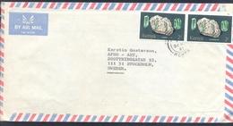 Kenya 1981 Air Mail Cover: Minerals: Tourmaline Pair - Mineralien