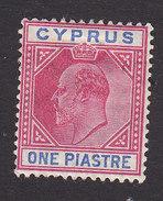 Cyprus, Scott #52, Mint Hinged, King Edward VII, Issued 1903 - Cyprus (...-1960)