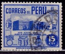 Peru, 1938, Museum In Lima, 15c, Scott# 378, Used - Peru