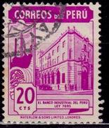Peru, 1938, Bank Of Peru, 20c, Scott# 379, Used - Peru