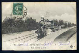 Cpa  Du  80 Je Suis Arrivé Par Le Train à Amiens En Bonne Santé   NCL76 - Amiens