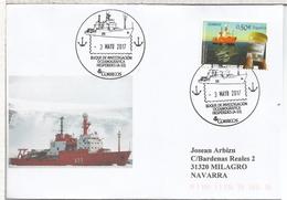 ESPAÑA CC CON MAT BUQUE POLAR HESPERIDES A-33 ANTARTIDA ARTICO ANTARCTIC - Navi Polari E Rompighiaccio