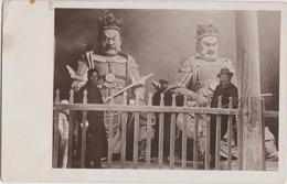 CPA PHOTO CHINE CHINA Intérieur D'un Temple Religion Statues Divinités 1914 Rare - Chine