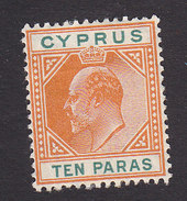 Cyprus, Scott #49, Mint No Gum, King Edward VII, Issued 1907 - Cyprus (...-1960)