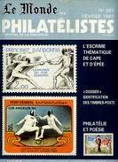 Le Monde Des Philatelistes N.383,1985,affr.fiscal état Civil,escrime,CP Masques Cavalcades,polaire Norvège, - Français (àpd. 1941)