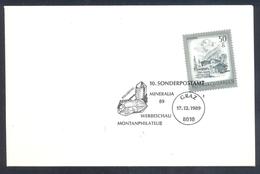 Austria 1989 Cover: Minerals; Mineralia Bergkristall Cancllation - Mineralien