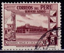 Peru, 1938, Airmail, Govmt. Restaurant In Callao, 5c, Scott# C49, Used - Peru