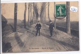 VARREDDES-- ROUTE DE CONGIS-- JEUNE CYCLISTE ET SON PERE?--EMPIERREMENT - Other Municipalities