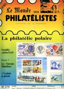 Le Monde Des Philatelistes N.374,1984,El Barquito,Alsace-Lorraine Colis Postaux,poisson D'avril,Marianne Nef,Helvetia - Français (àpd. 1941)