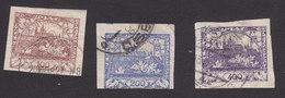 Czechoslovakia, Scott #8-10, Used, Hradcany At Prague, Issued 1918 - Tchécoslovaquie