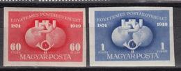 HUNGARY Yvert 916-17 ** MNH Imperforated – 75 Years UPU (1949)