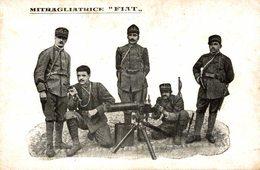 Mitragliatrice FIAT - Viaggiata 1918 - 9x14 Cm.  (2 Foto) - Ausrüstung
