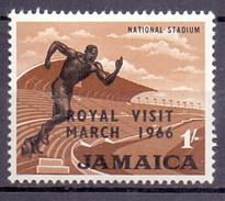 Jamaica (Jamaique) 1966 Royal Visit Overprint National Stadium (1v) MNH (M-117)