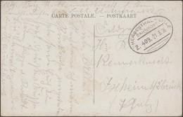 Belgique 1916. Carte Postale En Franchise Militaire. Ambulant Herbesthal-Lille (cachet Allemand). Carte Tournai Caserne - Marcophilie