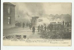 "Antwerpen  *  Incendie Des Bois - Brand Der Houtstapels - L'Estaminet ""De Vos"" (Pompiers) - Antwerpen"