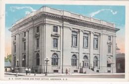 South Dakota Aberdeen Court House And Post Office Curteich - Aberdeen