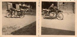 2 Petites Photos Originales Motocyclisme Et Motocyclette - Moto  MZ Banane, MZ Type ES, 175 Ou 250 De 1960  & Enfant - Cyclisme