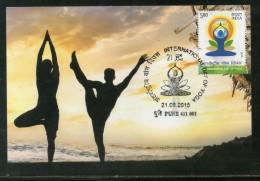 India 2015 International Day Of Yoga Health Fitness Max Card # 8307 - Health