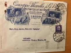 LECCO-20-8-1931-DITTA GIUSEPPE MARELLA-GRANITI E PIETRE - 1900-44 Victor Emmanuel III