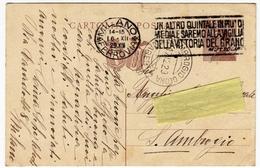 STORIA POSTALE - CARTOLINA POSTALE CON ANNULLO A TARGHETTA - 1929 - FASCISMO - MUSSOLINI - Timbres (représentations)