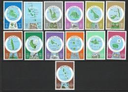 "Vanuatu YT 583 à 595 "" Cartographie , Français "" 1980 Neuf** - Vanuatu (1980-...)"
