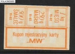 POLAND RATION COUPON 1982-06 TYPE M-W - Zubehör