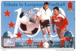 Nº 43 TARJETA DE GIBRALTAR DE 100 YEARS OF FOOTBALL - FUTBOL (COCA-COLA)  NUEVA-MINT - Gibraltar