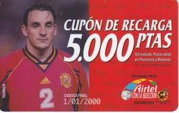 ACR-016 TARJETA DE AIRTEL DE FERRER, JUGADOR DE LA  SELECCION ESPAÑOLA DE 5000 PTAS - Airtel