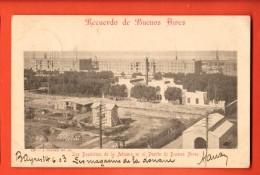 IBT-07 Recuerdo De Buenos Aires Los Depositos De La Aduana En El Puerto. Pioneer.Used In 1903 To France - Argentine