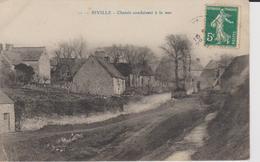 + CPA 50 Biville - Chemin Conduisant à La Mer + - France