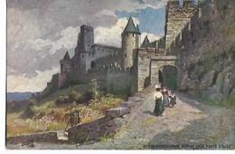 """Cité  De  Carcassonne  -    Montée  De La Porte  D,Aude       -   Tuck - """" Oilette """" - Carcassonne"""