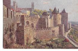 """Cité  De  Carcassonne  -    Défenses  De La  Porte  D,Aude        -   Tuck - """" Oilette """" - Carcassonne"""