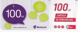 Moldova   Moldavie  Moldau ,  Prepaid Phonecards -  Unlte , 100 Lei , Moldcell 100 Lei , Paper , Used - Moldova