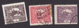 Czechoslovakia, Scott #41, 44, 46, Used, Hradcany At Prague, Issued 1919 - Tchécoslovaquie