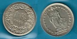 SVIZZERA 1944 - Helvetia - 1 Fr / CHF - BB / SPL - Argento / Argent / Silver - Confezione In Bustina - Suiza