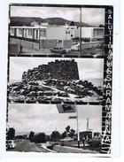 USSARAMANNA - SALUTI - VEDUTINE - POMPA DI BENZIA AGIP ( 631 ) - Andere Städte
