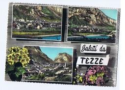 TEZZE ( GRIGNO / TRENTO ) SALUTI - VEDUTINE - EDIZ. OREMPULLER - 1961 ( 651 ) - Trento