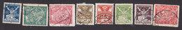 Czechoslovakia, Scott #73, 76, 78, 83-84, 87-88, 92 Type II, Used, Carrier Pigeon, Break Chains, Science, Issued 1920-23 - Tchécoslovaquie