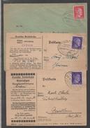 ELSASS - III REICH - BAHNPOST / 1942 ZUGSTEMPEL STRASSBURG - MULHAUSEN 3 DOKUMENTE (ref 1338) - Allemagne