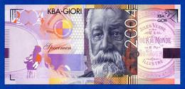 KBA Giori Jules Verne 2004 Intaglio Specimen Test Note Fds / Unc - Specimen