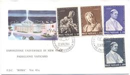 VATICANO - VATICAN - 1964 - Esposizione Universale Di New York, Padiglione Vaticano - FDC - Roma - FDC