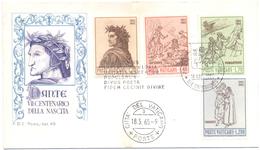 VATICANO - VATICAN - 1965 - Dante Alighieri, VII Centenario Della Nascita - FDC - Roma - FDC