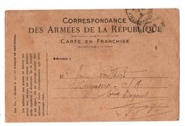 Correspondance Des Armées De La République . Carte En Franchise . 05 Mai 1918 - Réf. N°2093 - - Marcophilie (Lettres)