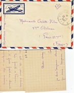 FRENCH  COVER  ARMY  IN  INDO-CHINE / VIETNAM  W / LETTER - Postmark Collection (Covers)