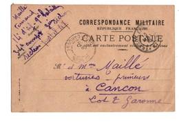 Correspondance Militaire. République Française. Carte En Franchise. 11/05/1915. Destinataire à Cancon 47 - Réf. N°2095 - - Marcophilie (Lettres)
