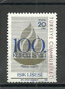 Turkey ; 1985 Centenary Of Isik Lyceum, Istanbul - 1921-... República